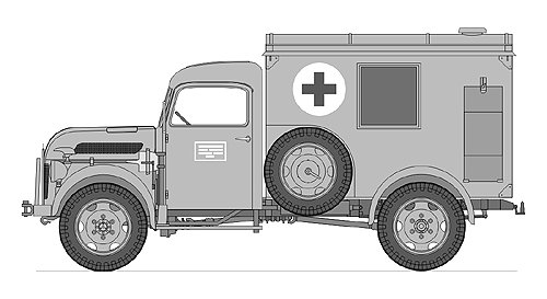 Steyr Type 1500A Kfz.31 Ambulance, 1/35 LeadWarrior Resin Kit