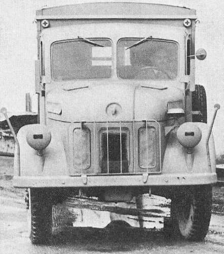 Steyr 1500A Kfz.31. Front view.