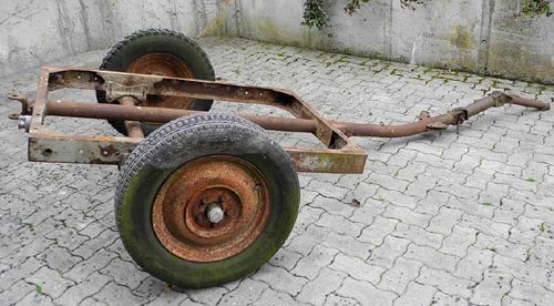 Anhangerfahrgestell A1, single-axle light trailer chassis, Luftwaffe