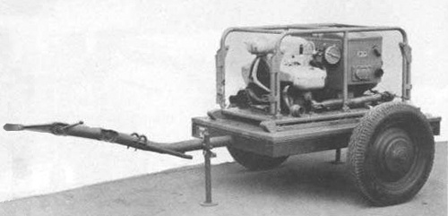 Zundapp, German WWII Generator with the A1 trailer chassis