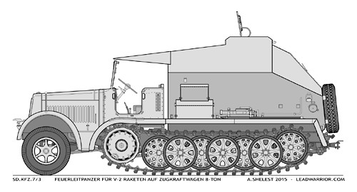 Sd.Kfz.7/3 Feuerleitpanzer fur V-2 Raketen (V-2 Rocket Command Vehicle) title=